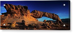 Acrylic Print featuring the photograph Sunset Arch Pano by Edgars Erglis