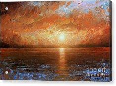 Sunset Acrylic Print by Arthur Braginsky
