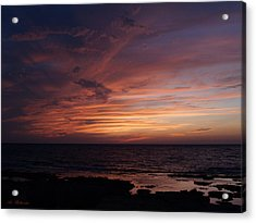 Sunset At Achziv Beach Acrylic Print