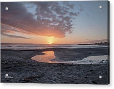 Sunset At Ano Nuevo Acrylic Print by Bill Roberts
