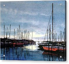 Sunset At Apollo Beach Acrylic Print