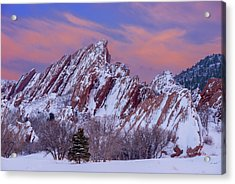 Sunset At Arrowhead Acrylic Print by Darren White