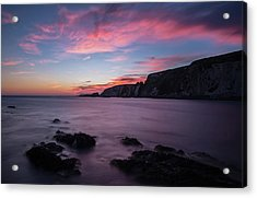 Sunset At Ayrmer Cove Acrylic Print
