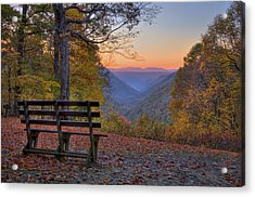 Acrylic Print featuring the photograph Sunset At Babcock by Williams-Cairns Photography LLC
