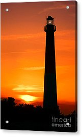 Sunset At Barnegat Lighthouse Acrylic Print by Olivier Le Queinec