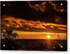 Acrylic Print featuring the photograph Sunset At Bay Harbor by Onyonet  Photo Studios