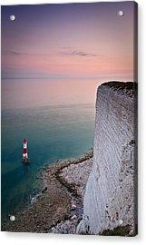 Sunset At Beachy Head Acrylic Print
