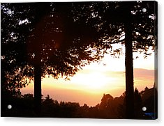 Sunset At Big Sur Acrylic Print