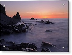 Sunset At Blegberry Beach Acrylic Print