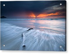 Sunset At Borneo Acrylic Print