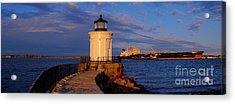 Sunset At Bug Light Lighthouse 2 Acrylic Print