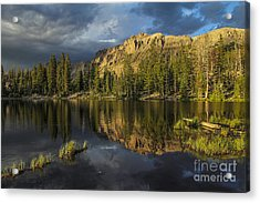 Sunset At Butterfly Lake Acrylic Print