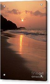 Sunset At Cacimba Do Padre - Fernando De Noronha - Brazil Acrylic Print by Maria Adelaide Silva