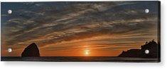 Sunset At Cape Kiwanda Acrylic Print