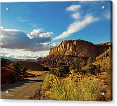Sunset At Capitol Reef Acrylic Print