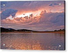 Sunset At Carter Lake Colorado Acrylic Print by James Steele