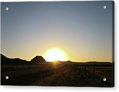Sunset At Castle Butte Sk Acrylic Print