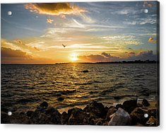Acrylic Print featuring the photograph Sunset At Cedar Key by Rebecca Hiatt