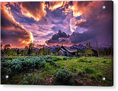 Sunset At Chapel Of Tranquility Acrylic Print