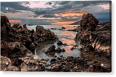 Sunset At Charley Young Beach Acrylic Print