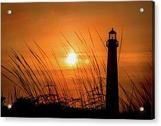Sunset At Cm Lighthouse Acrylic Print