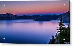 Sunset At Crater Lake Acrylic Print