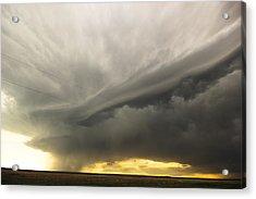 Sunset At Dalhart Texas Acrylic Print