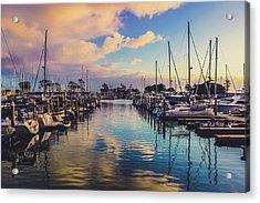 Sunset At Dana Point Harbor Acrylic Print