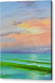 Acrylic Print featuring the painting Sunset At Dana Point  by Mary Scott