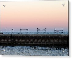 Sunset At Diversey Harbor Acrylic Print