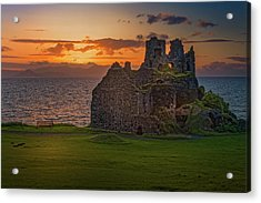 Sunset At Dunure Castle Acrylic Print