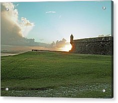 Acrylic Print featuring the photograph Sunset At El Morro by Gary Wonning