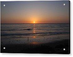 Sunset At Eljio Beach California Acrylic Print by Susanne Van Hulst