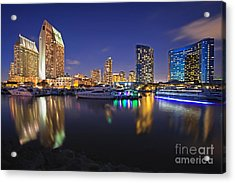 Sunset At Embarcadero Marina Park In San Diego Acrylic Print