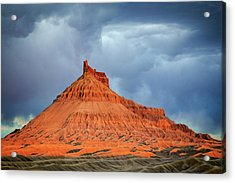 Sunset At Factory Butte. Acrylic Print