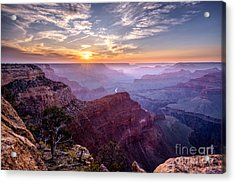 Sunset At Grand Canyon Acrylic Print by Daniel Heine