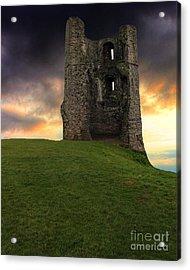 Sunset At Hadleigh Castle Acrylic Print