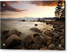 Sunset At Hidden Beach Acrylic Print