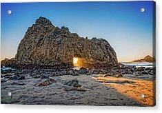 Sunset At Hole In The Rock Acrylic Print by James Hammond