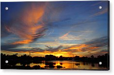 Sunset At Home Acrylic Print by Becky Erickson