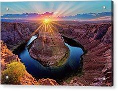 Sunset At Horseshoe Bend Acrylic Print
