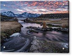 Sunset At Hot Creek Acrylic Print