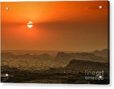 Acrylic Print featuring the photograph Sunset At Jodhpur by Yew Kwang