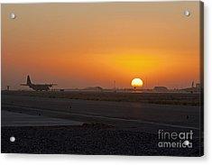 Sunset At Kandahar Acrylic Print by Tim Grams