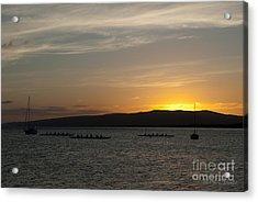 Sunset At Kaunakakai Acrylic Print
