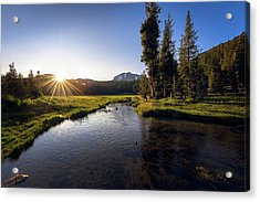 Sunset At Kings Creek In Lassen Volcanic National Acrylic Print