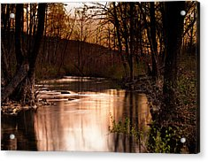 Sunset At King's River Acrylic Print by Tamyra Ayles