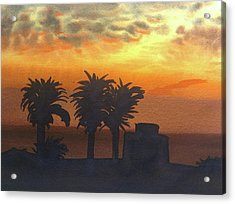 Sunset At Laguna Acrylic Print by John DiMare