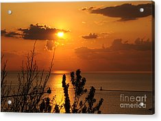 Sunset At Lake Huron Acrylic Print by Joe  Ng