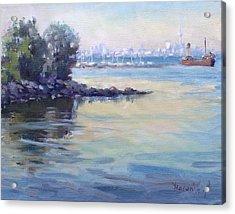 Sunset At Lake Ontario  Acrylic Print